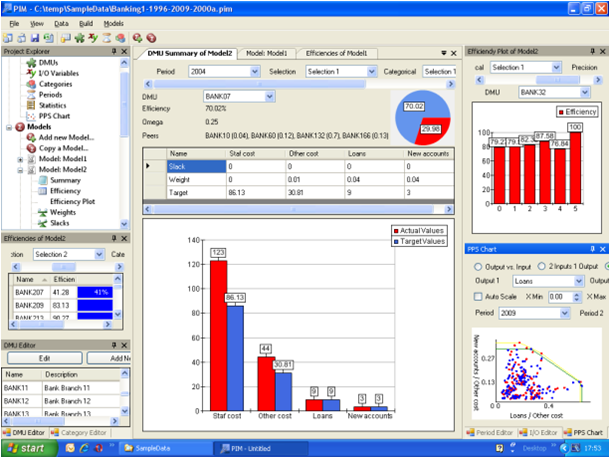 Performance Improvement Management Software - PIM-DEA software